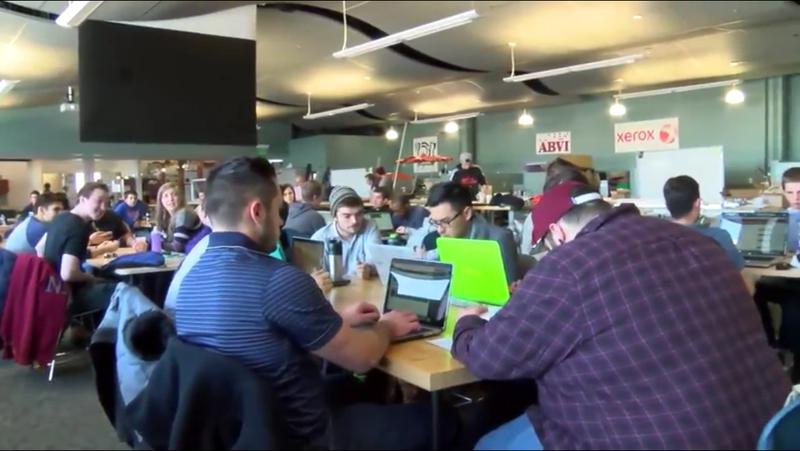 Inside the classroom of RIT's senior design team.