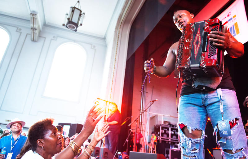 Dwayne Dopsie & the Zydeco Hellraisers rocked the Harro East Ballroom on Saturday night.