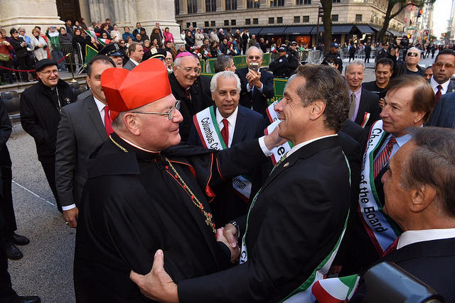 Image result for cardinal dolan governor cuomo