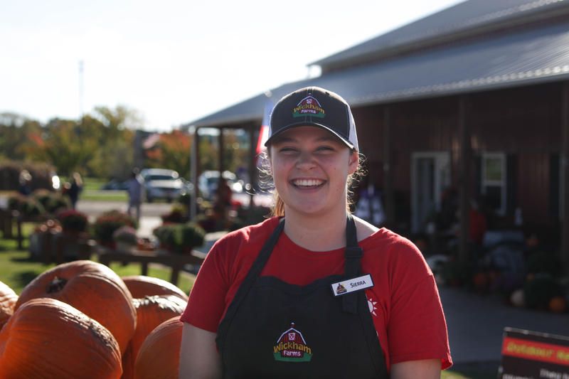 """Sierra Hall, a 17-year-old employee at Wickham Farms, says minimum wage is quite """"do-able"""" in high school. She can pay for gas and go out a couple of nights a week with friends. For adults trying to sustain a family, she feels it is not enough."""