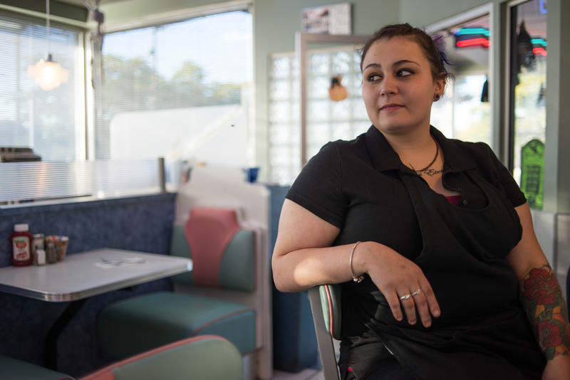 "Nicole Brown, a mother of three, has waited tables at Jay's Diner in the Rochester area for the past decade. She thinks that the projected minimum wage increase would be ""too huge for an entry-level position."""
