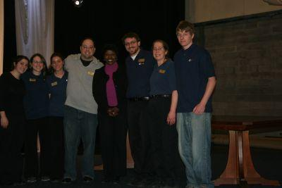 Gwen meets with WXXI crew during her 2010 visit