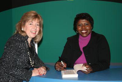 Gwen Ifill & Diana Kurty, a former WXXI Board Chair