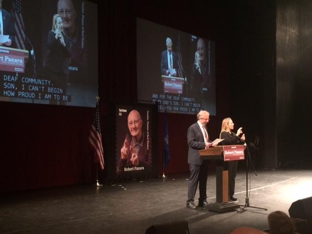 NTIDs Robert Panara Honored In Stamp Dedication Ceremony