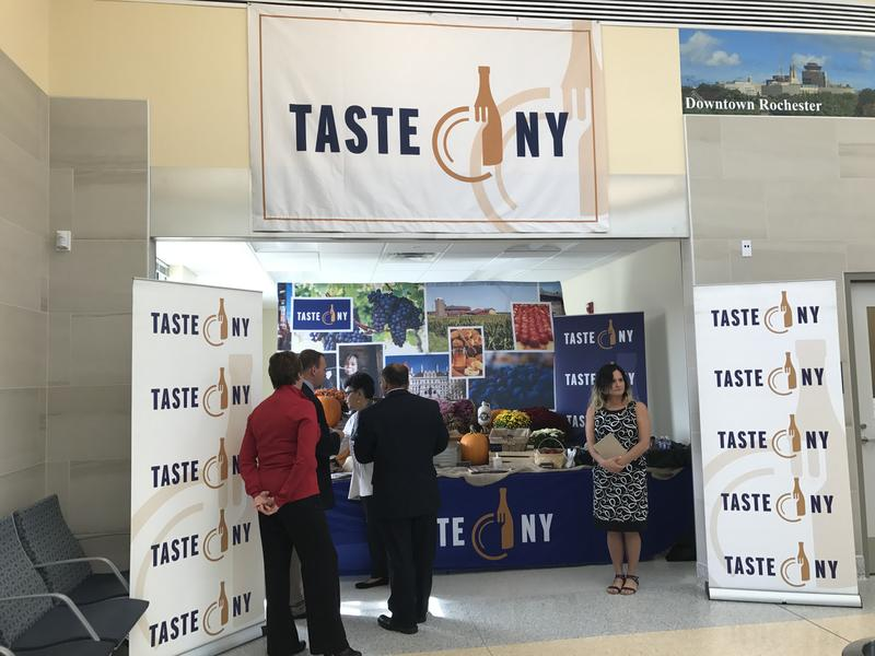 The Taste of NY kiosk offers passengers small specialty items and food stuff.