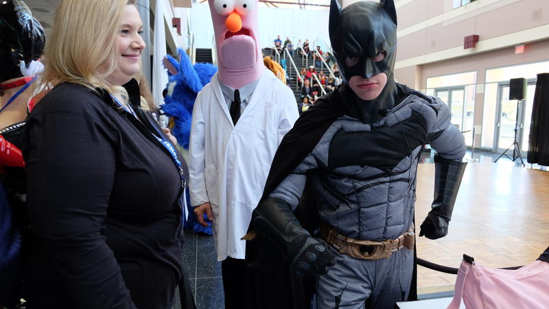 High school student Nate Taylor transforms into Batman during Comic Con earlier this year in Rochester.