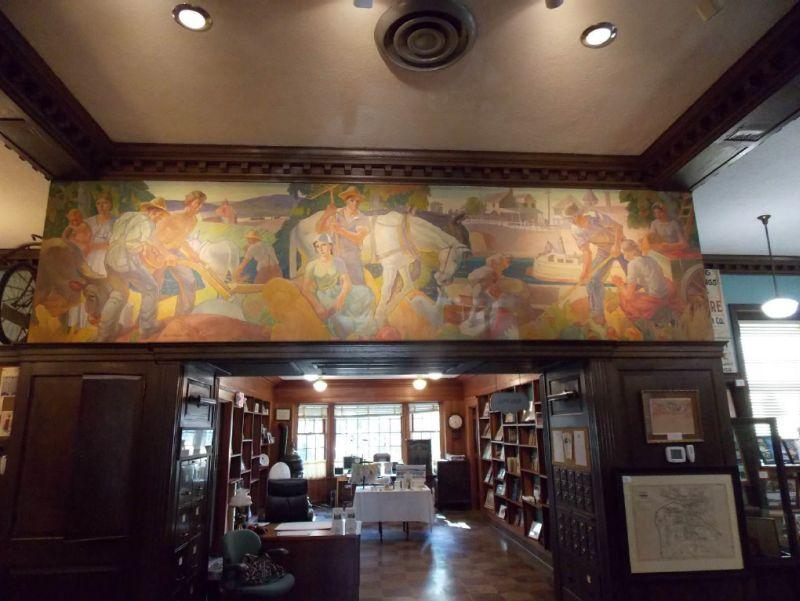 Carl Peters WPA mural at the Fairport Public Library