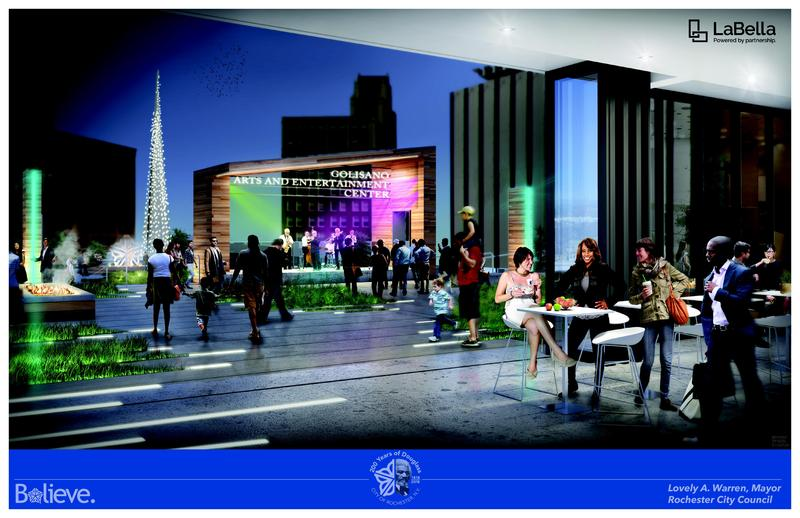Another rendering view of the proposed Parcel 5 project