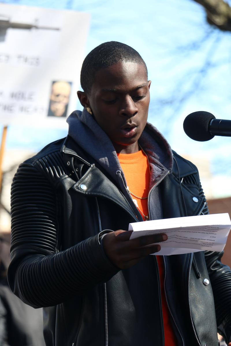 Freemonta Strong, a youth organizer with Teen Empowerment