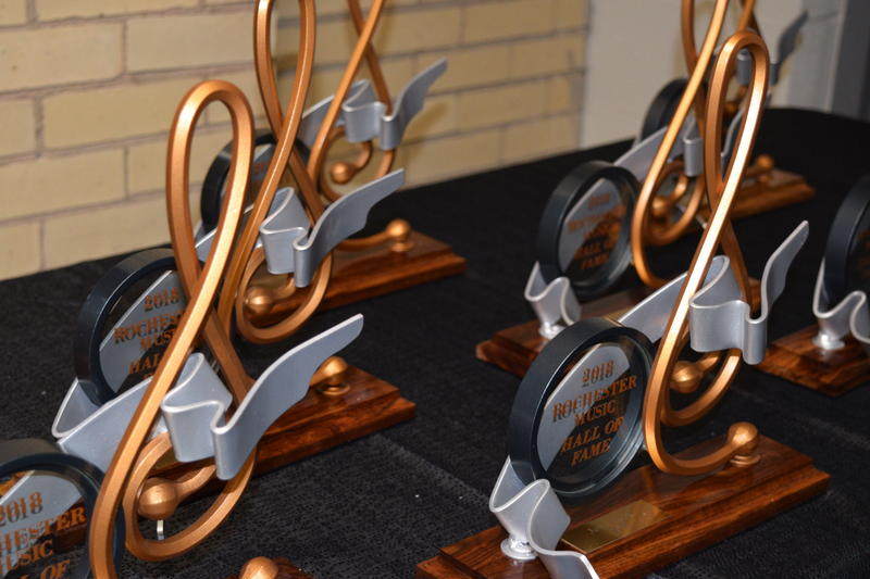 A look at the awards handed out to the honorees at the Rochester Music Hall of Fame
