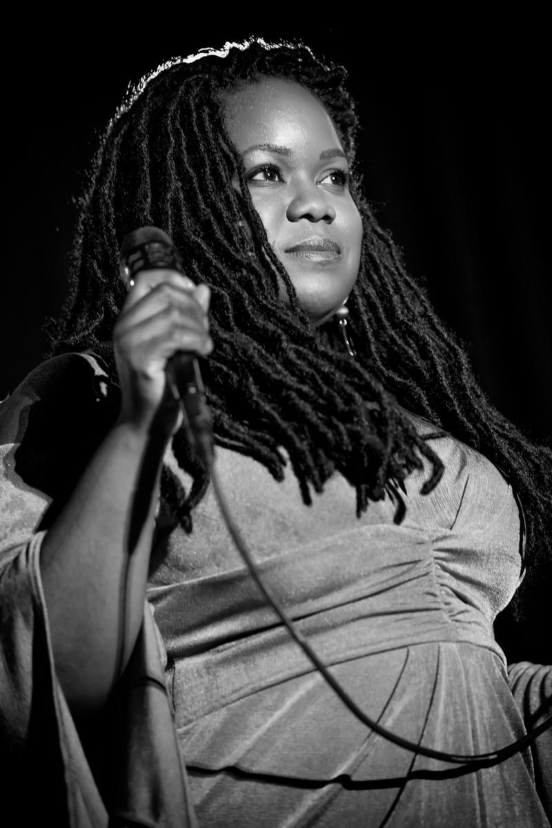 Zara Mcfarlane was on the Christ Church stage as part of the Made in the UK series.