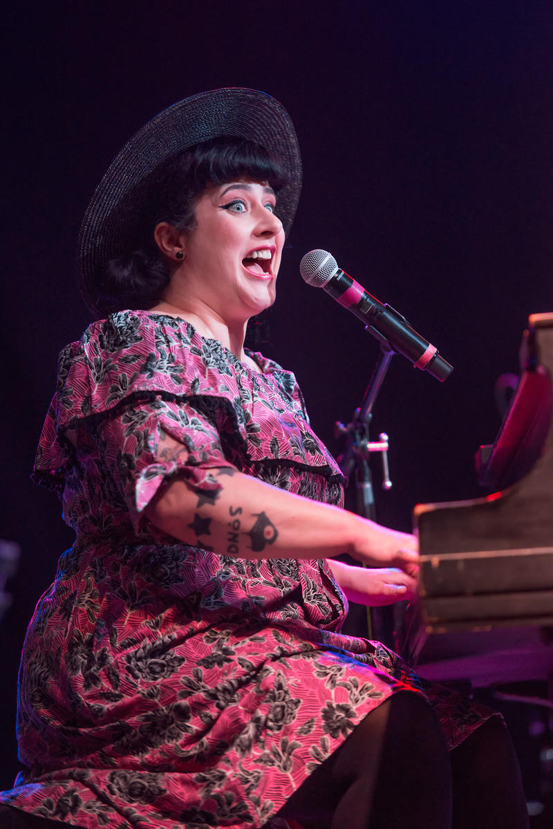 In the Big Tent, it was Davina and the Vagabonds lighting up the stage on Wednesday night.