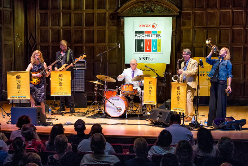Matt Wilson's Honey & Salt Band took the stage at Kilbourn hall on Saturday night.