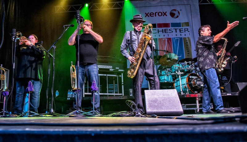 Tower of Power was the featured act on the East Avenue & Chestnut Street stage Saturday night.