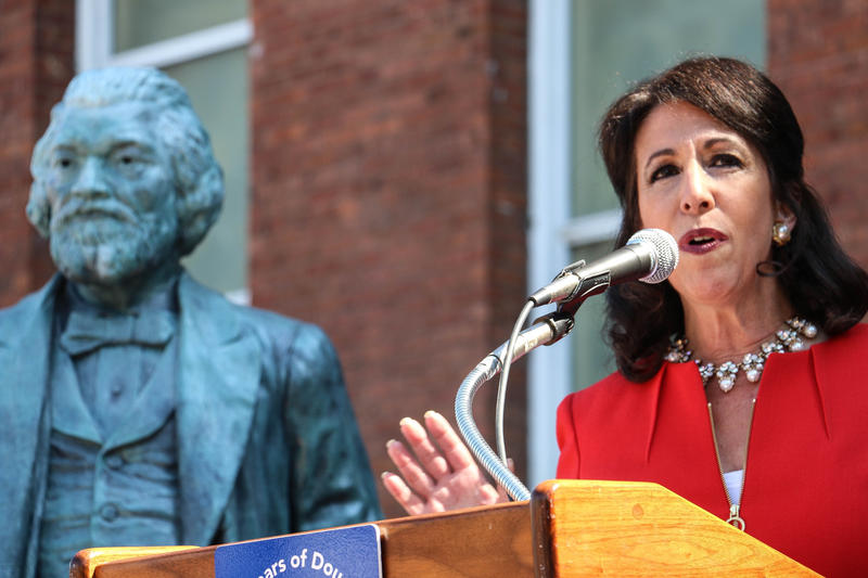 County Executive Cheryl Dinolfo says she's excited to support efforts to uplift Frederick Douglass's legacy. She has been working with NY Assemblyman Harry Bronson to move the original monument to a more visible spot of Highland Park.