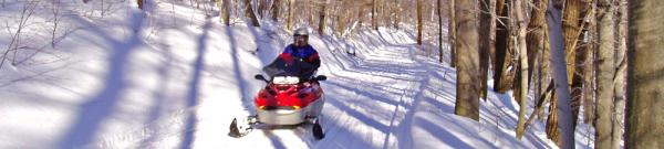 Snowmobile at NYS Allegany Park