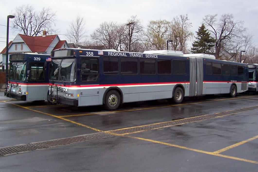 Rochester Ny Restored Old Look Bus: Rochester-Area Public Transit Boosts Ridership