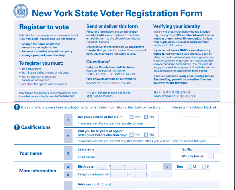 Voter Registration Up as New York Presidential Primary Approaches ...
