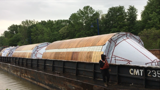 They made it -- Genesee Brewery tanks unloaded at Rochester