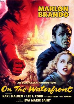 On the Waterfront film poster - Marlan Brando, Karl Malden, Eve Marie Saint