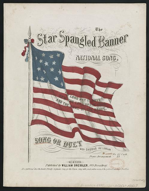 Sheet music cover: The Star Spangled Banner: National Song