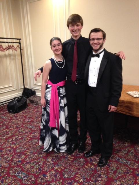 Oboist Riesa Cassano, Cellist Benjamin Doane, and Pianist Jonathan Madden