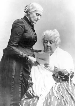 Susan B. Anthony and Elizabeth Cady Stanton.
