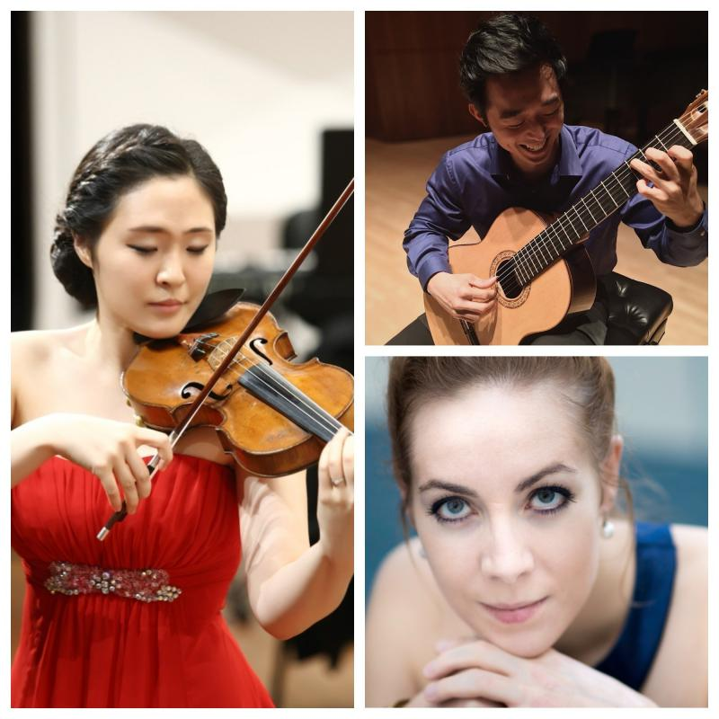 Violinist Sooah Jung, cellist Noémie Raymond-Friset, guitarist Sungmin Lee (March 21, 2018)