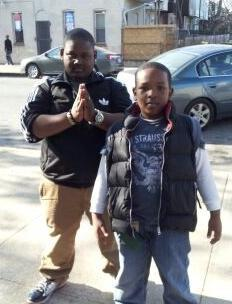 Juwan and Javon Nobel of East Baltimore. They ride two buses together to school each day.