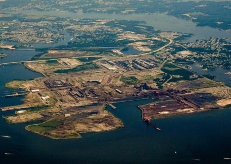Cover photo for a new report by the Sparrows Point Partnership, a task force set up by Baltimore County to examine potential uses for the Dundalk peninsula.