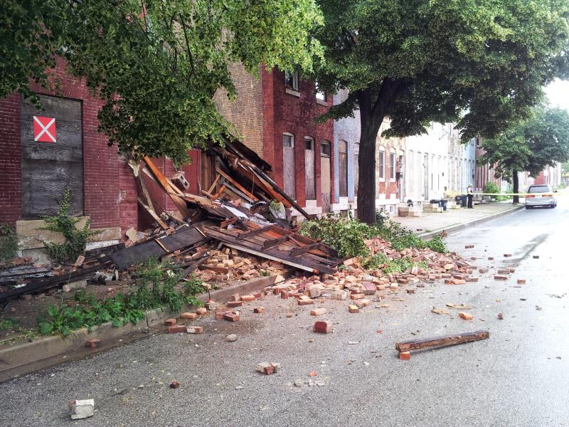 Baltimore Housing says vacant and blighted properties are a major concern for the agency, adding that severe weather conditions can cause these buildings to collapse.