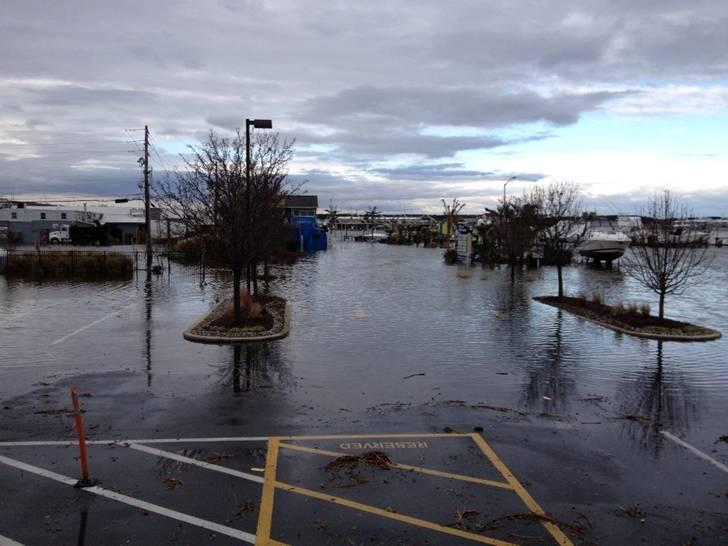 An example of flooding at Mears Point Marina, which has recently been occurring up to 12 times a year.