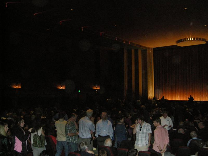 The crowd filters in for the opening night screening of Hairspray.