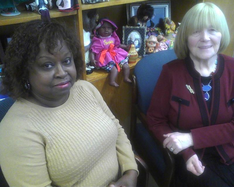 Janet Lippman (l) coordinates Baltimore City School's Home and Hospital program for chronically ill students. Dr. Louise Fin is the district's Health Services Director.