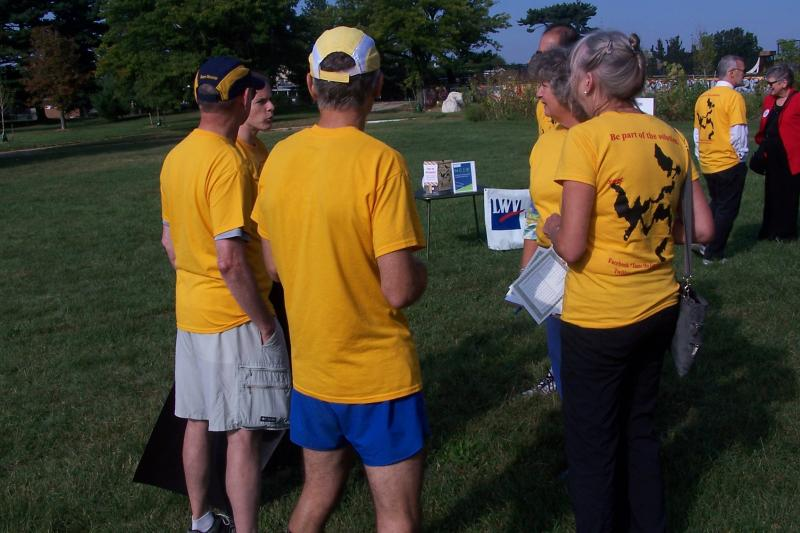 A map of the 3rd Congressional district was on the back of some race-themed t-shirts.