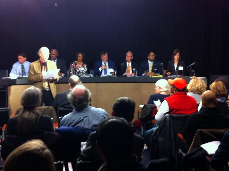 The candidates at the transportation forum