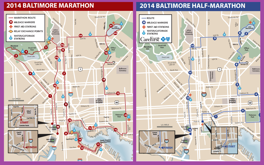 The Baltimore Running Festival Maps Amp Closures  WYPR