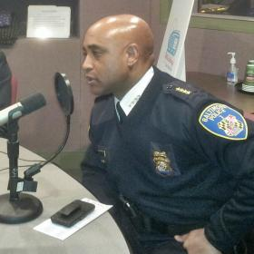 Baltimore City Police Commissioner Anthony Batts, at WYPR studios in April 2013.