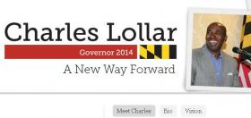 Screen shot of Charles Lollar's campaign website on November 1, 2013.