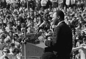 King gives an anti-Vietnam speech at the St. Paul Campus of the University of Minnesota, courtesy of the Minnesota Historical Society