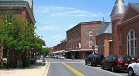 Street view of Berlin, Maryland.