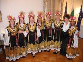 The members of Orfeia Vocal Ensemble, at the Bulgarian Embassy