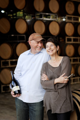 Bill Sweat and Donna Morris at Winderlea Winery
