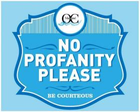 "Ocean City's ""No Profanity, Please"" Sign"