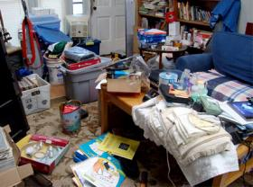 Household clutter can be both a cause and a symptom of emotional distress.