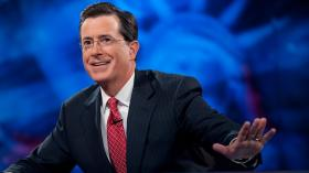 "Funnyman Stephen Colbert is set to take over the ""Late Show"" in 2015 when David Letterman retires."