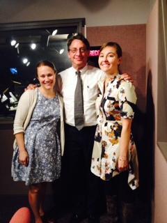 Eleanor Haley and Litsa Williams with Tom Hall