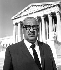 Before he was appointed to the U.S. Supreme Court, Thurgood Marshall represented the plaintiffs in the Brown v. Board of Education case on behalf of the NAACP.