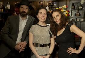 left to right:  actor Ignacio Garcia-Bustelo, director Monica Lopez-Gonzales, and actress Luz Nicolas