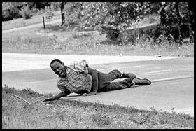 James Meredith was shot while he marched for Civil Rights. This photograph later became iconic.